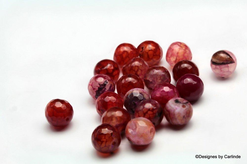 Ca 20 Cherry Agaat kralen Voor een nieuw begin K2018