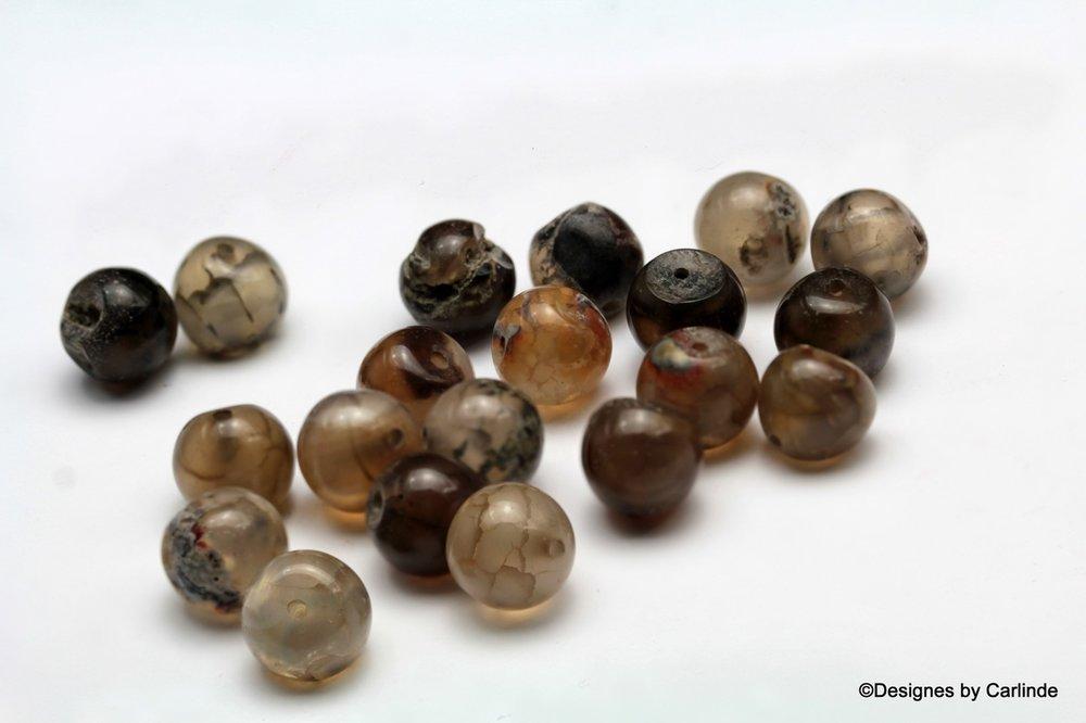 20 Schitterende Rough 10 mm Agaat kralen K2006