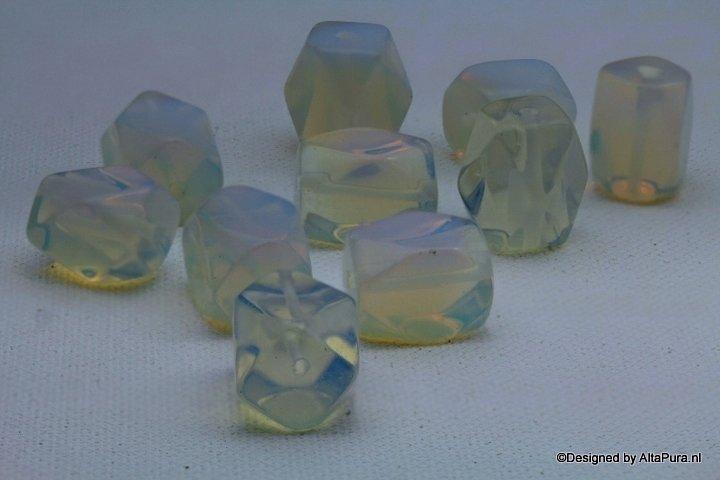 10 Opaline Blok kralen van 20 mm voor een van de mooiste Colliers K424