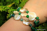 Leuk  Armband van White Abalone schelp A2231_