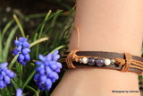 Mooi leren armband met Zuiverende Amethyst A2228_