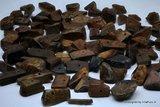 ca 65-75 Reuze Split Kralen 12- 20 mm van Gele& Blauwe  Tijgeroog K545_