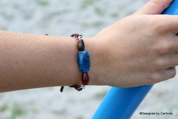 Schitterende Blue Ocean Armband  A1374