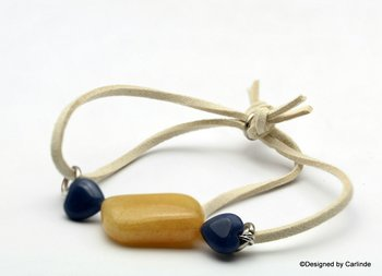 Mooie Honey Stone Armband A1375