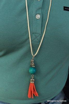 Krachtig Amulet  met mooie Groen Agaat C674