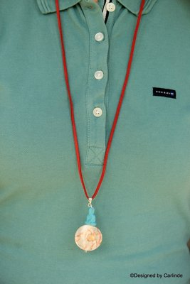 Vertrouwen Bhudda Dragon Veins  Collier C691