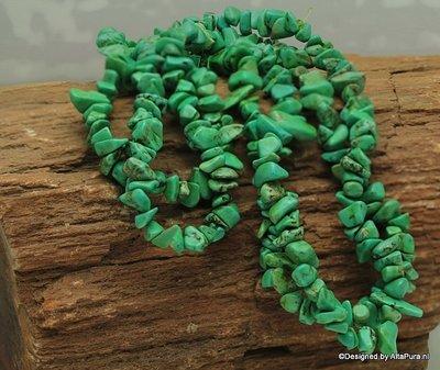 90 cm Collier Mooie split van Groene Turquereniet 6-10 mm K311