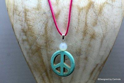 Krachtige talisman van Opaline  met Turquereniet Peace teken C510