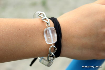 Unieke Choker/armband van Bergkristal C573