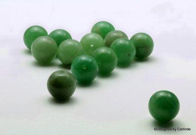 13 stuks Reuze kraal groene Aventurijn 14 mm K366