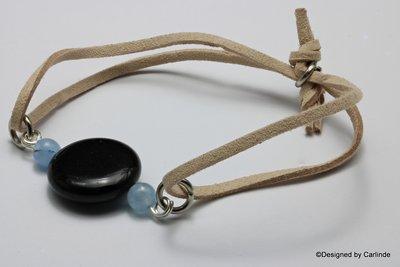 Leuk Armband met Beschermende Obsidiaan A2261