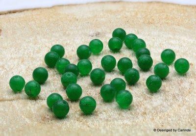 Ca 31 Schitterend donkergroene kralen 8 mm van Smaragd Agaat K529