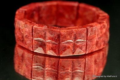 Armband Bloedrode koraal A1008