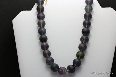 Schitterende  meerkleurige donker paarse Fluoriet  C251