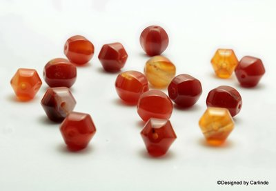 Ca 18  Schitterende 12 mm Carneool agaat crown beads K493