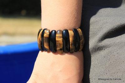 Schitterend Tijgeroog armband A2248