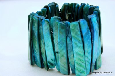 Schitterende Armband van Abalone schelp A2003
