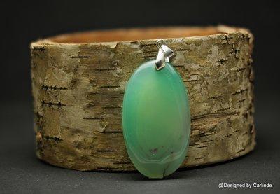 Mooi zachte, ovale groenagaat  LH121