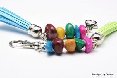 Colorfull Life Tassenhanger met vrolijke gekleurde agaten T1