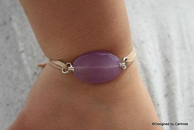 Mooi Armband met heldere 'verlichtende' facet geslepen agaat A2224