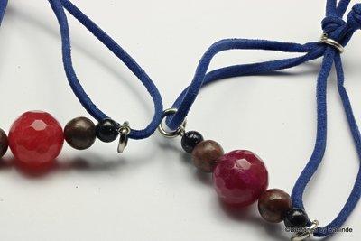 Leuk Armband in mooie kleuren combi met  verstelbare band A104