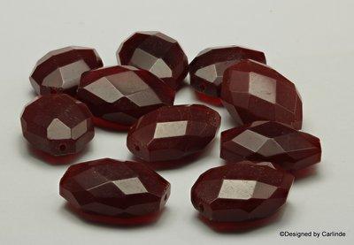 10sts wijnrode veelhoekige gefacceteerde agaat kralen K2326