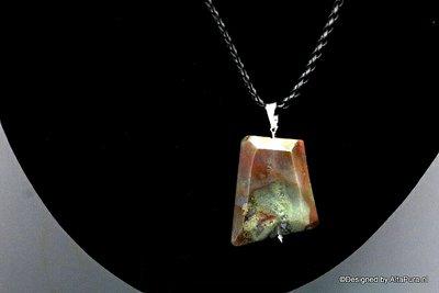 Krachtige talisman van Groen Rode Mos Agaat C549_312