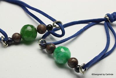 Leuk zomer Armband met heldere groen agaat A103