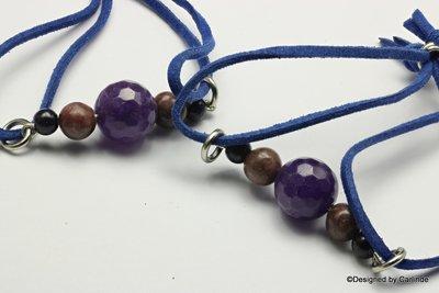 Fijn agaat-armband in rustige kleuren  A101