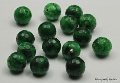 Geëmailleerde groen agaat kralen, 12mm, K2361