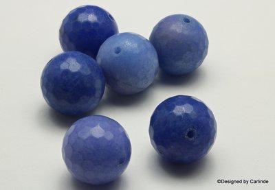 5Grote, gefacetteerde Blauwe Aventurijnkralen K2337