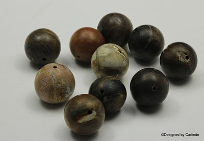 Prachtig wood jaspis kralen, ca.15mm,  K2349