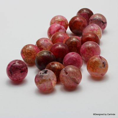 Ca 20 Cherry Agaat kralen Voor een nieuw begin K2100
