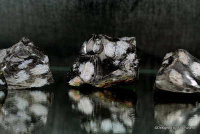 3 Meerkleurige Beschermstenen van natuurlijke Sneeuwvlok Obsidiaan A838
