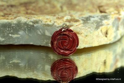 Mooie rozenhanger  van Breccie Jaspis  H117B
