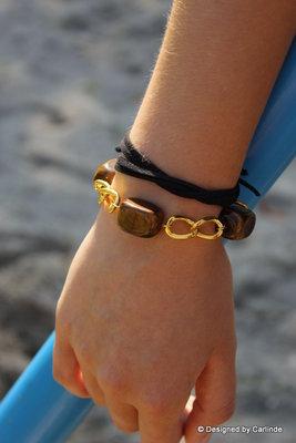Unieke Choker/armband van Tijgeroog C593