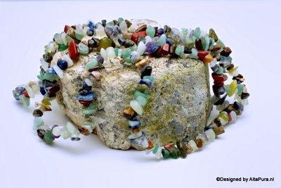 Ca 250 Schitterende Native mixed Earth Splitkralen K2089