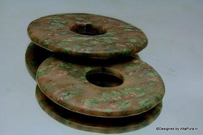 Mooie Talisman Mahonie jaspis  Reuze Donut 50 mm K338A