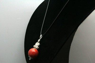 Mooie talisman van Bloed Rode Koraal met Bhudda C615
