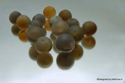 15 stuks 12 mm gematteerde Purple Agaat K341