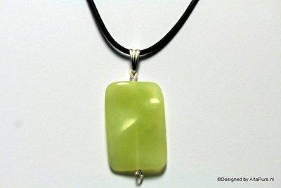 Mooi Collier met licht groene Jade C567