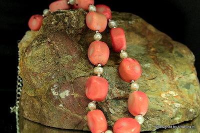 Mooi collier Pink koraal C175