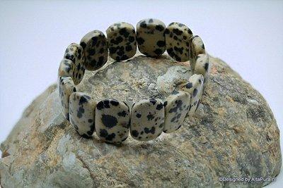 Mooie  Multi colour Grand Armband van Dalmatier jaspis   A1304