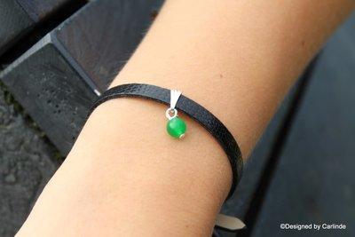 Mooi armbandje met Zuiverende Groen Agaat A1025A