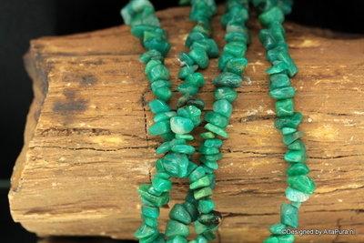 Schitterend 90 cm split collier van Collier van Groen Agaat uit Brazilie   K185