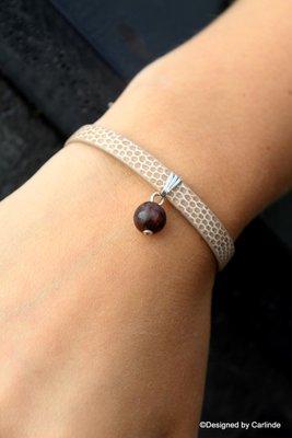 Mooi armbandje met Aardende Jaspis A1004