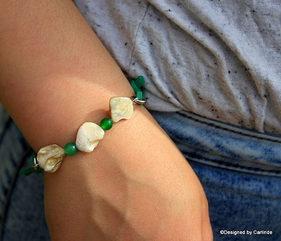 Leuk  Armband van White Abalone schelp A2231