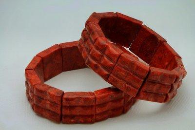 Schitterend Armband Bloedrode koraal A2077