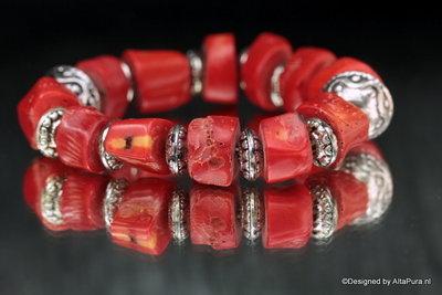 Armband Bloedrode koraal native Design A1109