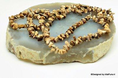 Schitterend Landschapsjaspis split collier, 90 cm   C467